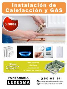 precio de colocar calefaccion y gas en donostia san sebastian. todo incluido, radiadores, puesta en marcha, calderas