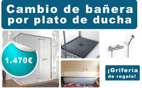 cambio banera por plato de ducha en san sebastian donostia. precio y presupuesto, cambia tu ducha ya