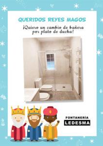 carta reyes magos fontaneria ledesma cambio banera por plato ducha